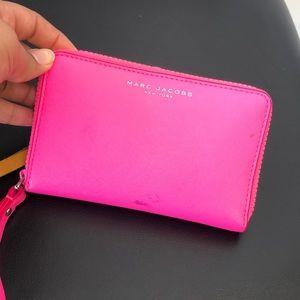 Neon pink Marc Jacobs wallet